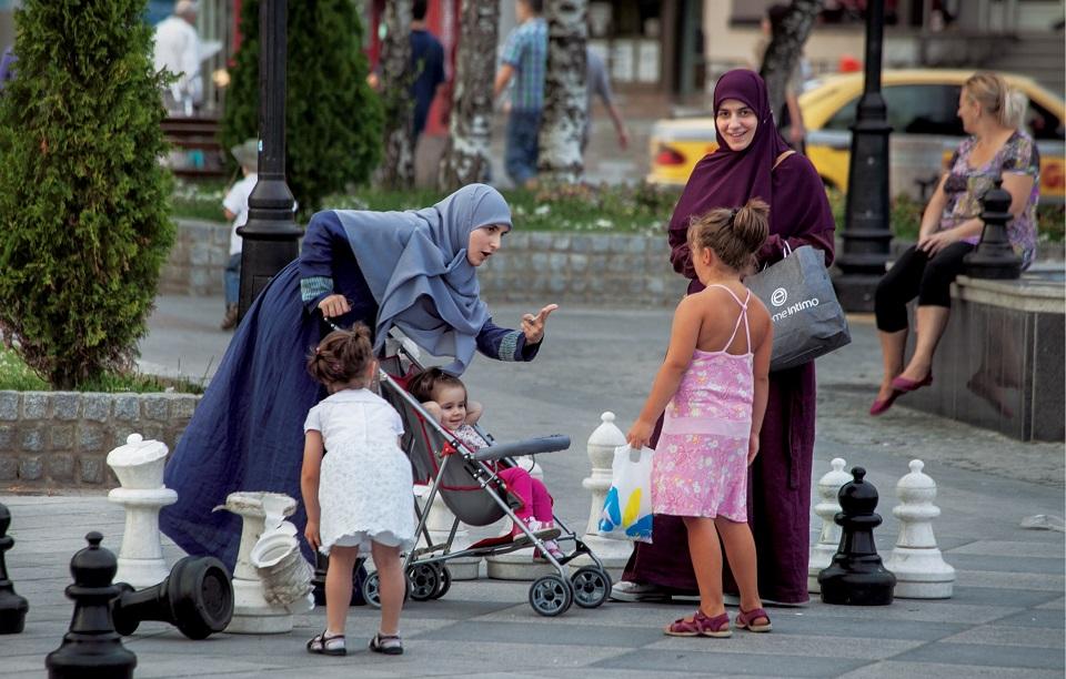 W Novim Pazarze kobiety w chustach widywaliśmy częściej niż w Kosowie czy Sarajewie
