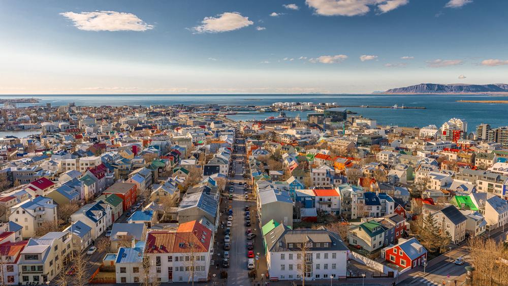 Islandia. Panorama Reykjaviku